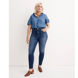 """Madewell 10"""" High-Rise Skinny Jeans in Danny Wash"""